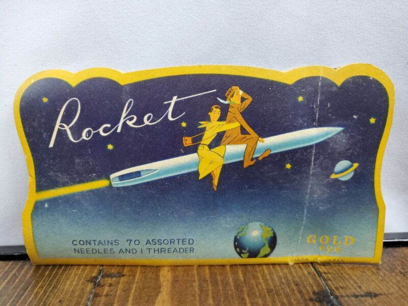 Vintage Sewing Needle Packet From Rocket Company Almost Complete Missing 1