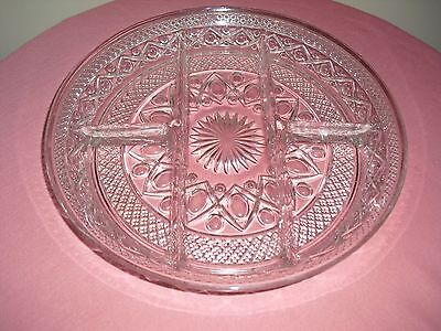 Imperial Glass CAPE COD CLEAR (#1602 & #160) 5 Part Relish / Snack  Dish / Tray