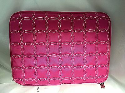 """Buxton 13.3"""" Pink Quilted Laptop Case Bag. Fits up to 13.3"""" Netbook. OC80L133PK"""