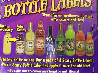 Scary Bottle Labels Stickers Haunted House Carnival Halloween Party Decoration](Scary Halloween Carnival)