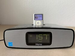 iHome iP90 Dual Alarm Clock Radio iPod Included Free Same Day Shipping