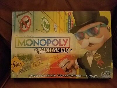 Monopoly for Millennials  Millenials Board Game Ages 8+ New FACTORY SEALED