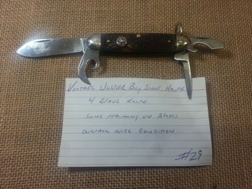 Vintage Ulster Made Boy Scouts of America Camping Utility Knife Nice Condition