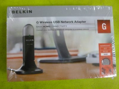 NEW in Box  Belkin Wireless G WiFi F5D7050 Desktop & Laptop  USB Network Adapter