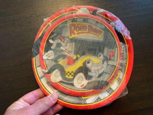 VINTAGE Disney WHO FRAMED ROGER RABBIT Unused Paper Plates Lot