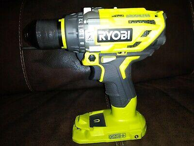 Ryobi P251 18-volt 18v Li-ion One Brushless Hammer W Led Drill Tool Only