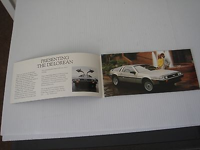 "DELOREAN  SALES BROCHURE 8.5"" x 4"" NEW"