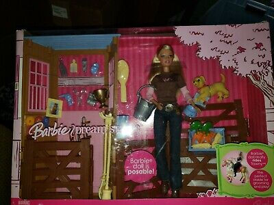 New BARBIE Me & My HORSE Dream STABLE 2007 Accessories Barn Puppy Tawny DOLL