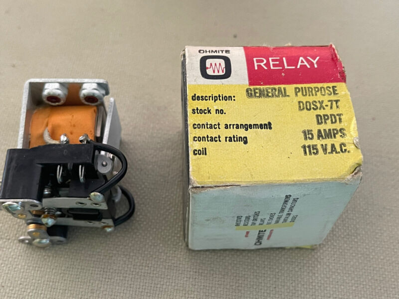 OHMITE RELAY DOSX-7T General purpose vintage