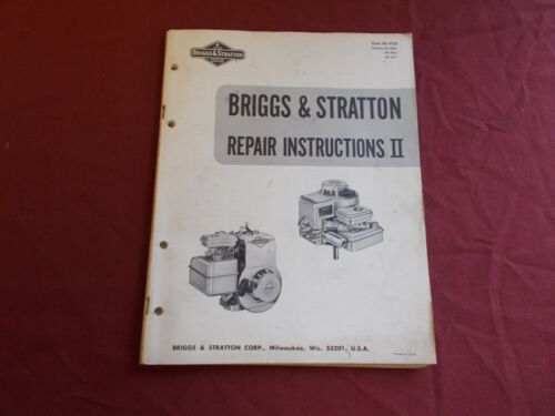 VGT 1970 BRIGGS & STRATTON ENGINE REPAIR INSRTUCTIONS MANUAL GO KART MOWER