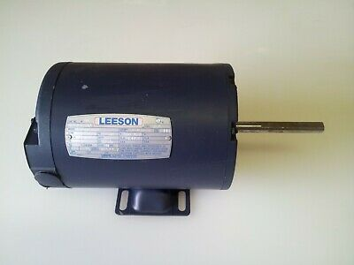 2 Leeson Motors 13 Hp 60hz 460-480v 7251125 Rpm Single Phase 4 Shaft