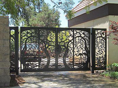 Iron Gate Estate (Iron Driveway gate,Metal gate,Panels ,Garden Iron Steel Estate Birds gate )