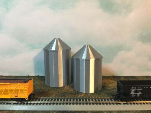 Shorter GRAIN SILO  - HO Scale 1:87 -  USA No Assembly Required! FARM Cluster