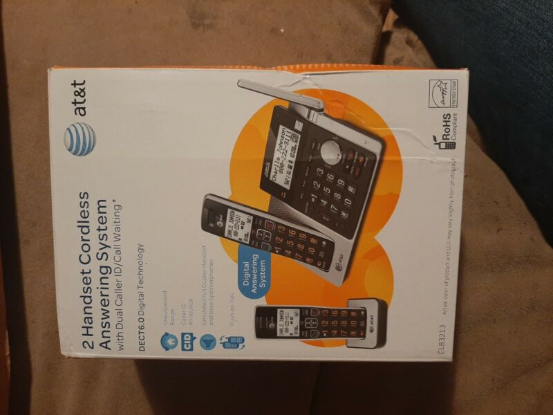 AT&T CL83213 Cordless Phone with Answering System ATT-CL83213 -Used 2 handsets