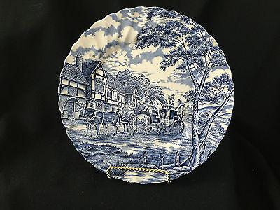 "Myott Royal Mail Blue Fine Staffordshire Ware 10"" Dinner Plate (1)"