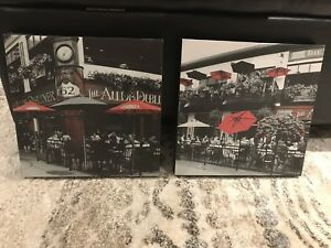 Set of Two Canvas Art Pictures