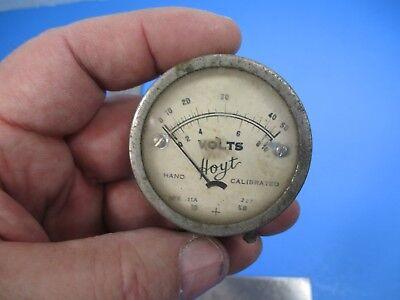 Vintage Hoyt Hand Calibrated Voltage Meter 50 Volts Steampunk V25