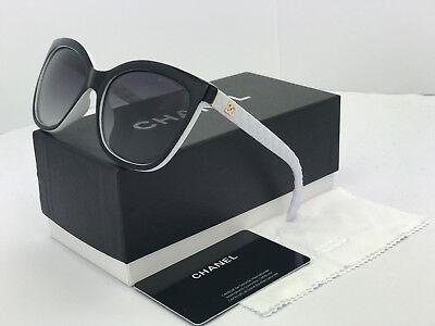 Sunglasses888@Polarized¹Chanel¹Oversized Black-White Grey Lenses2018