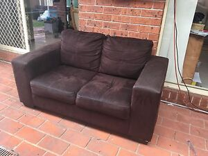 Brown 2seater couch Wattle Grove Liverpool Area Preview