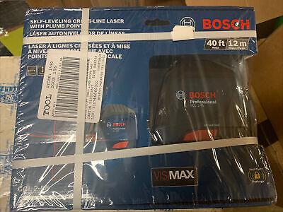 Bosch 40-ft Beam Self-leveling Cross-line Laser Level Gcl 2-55