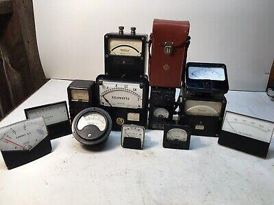 Lot Vintage Steampunk Volt Gauges Meter Simpson Gr Weston Triplet Ac Dc Sound