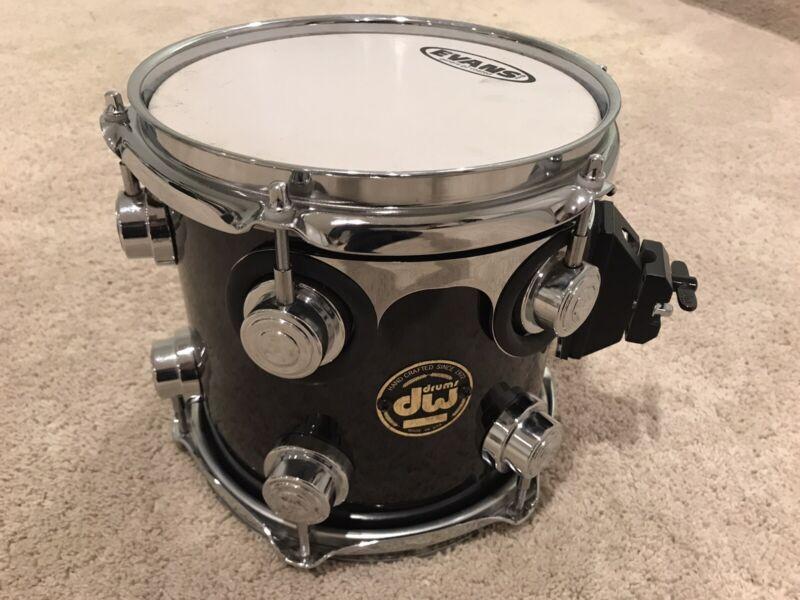 "DW 8"" Collectors Series Tom Black Wrap Drum Drums Drunset"