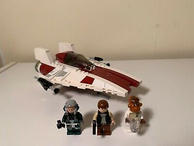 Lego Star Wars A-Wing 75003 100% complete with Minifigs