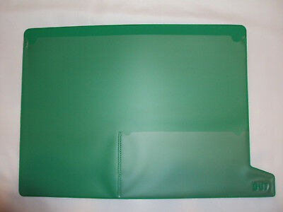 End Tab Green Poly/Vinyl File Out Guide Bottom Tab 2 Pocket Letter Size 25/Pack  Poly File Guides