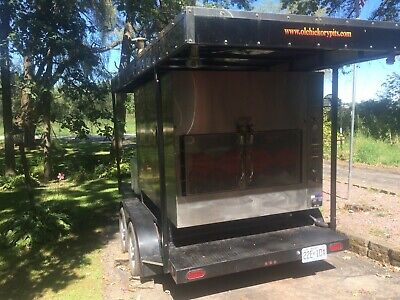 Ole Hickory Pits Wood Burning Barbecue Smoker And Trailer