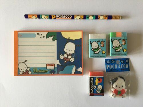 Lot of Sanrio Pochacco Vintage Eraser Notepad Pencil Dog