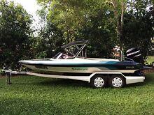 Ski Boat Stejcraft Malibu Pro Skier with Mercury Optimax 175hp Edge Hill Cairns City Preview