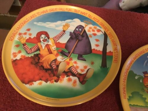 McDonalds 1977 Collector Plates 10""