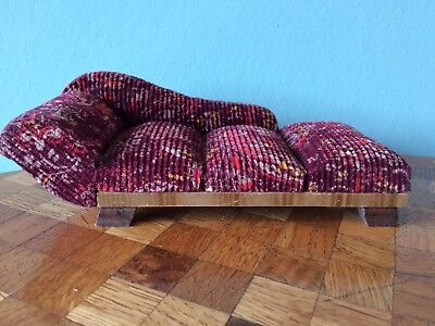 Liege Chaiselongue Sofa (Nr. 3)  Puppenhaus Puppenstube  1:12 dollhouse sofa