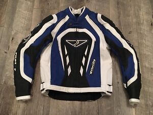Men's FXR leather armoured motorcycle jacket size small