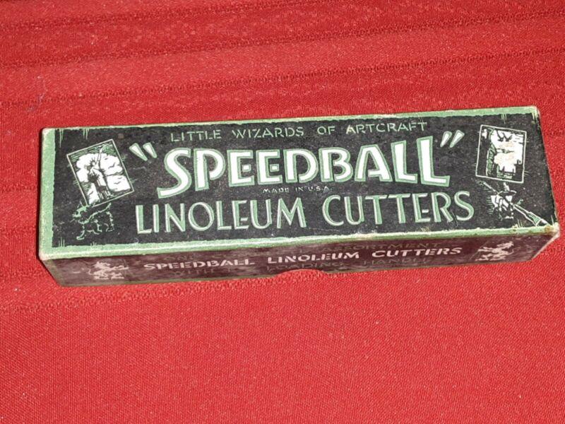 Vintage Speedball Linoleum Cutters NoS