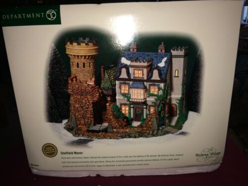 Department 56 Heritage Dickens Village Sheffield Manor #56.58493 Limited Run