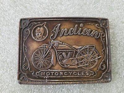 "Vintage ""Indian Motorcycles"" Belt Buckle Brasstone Advertising Buckle Vintage ""I"