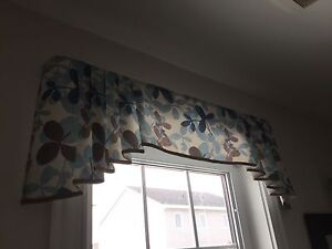One valance and 2 curtains