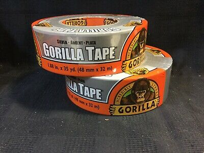2 Pack Gorilla Tape 1.88 X 35yds Indooroutdoor Extra Strong Silver E