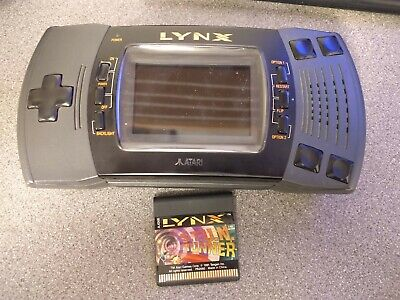 Atari Lynx 2 Console Including 1 Game in working order contrast a bit weak