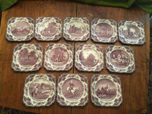 George Washington Bicentenary Plates Crown Ducal FULL SET