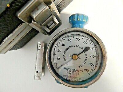 Vintage Shore Instrument Durometer Hardness Type O - 2 Tester