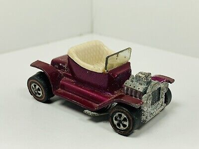 1968 Hot Wheels Redline US CREAMY PINK Hot Heap RARE COLOR FILL!
