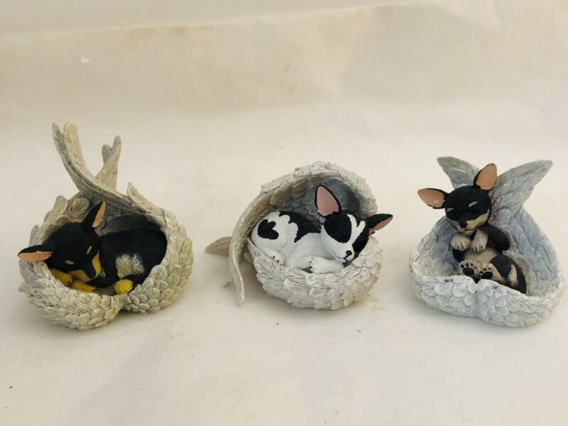 Set Of 3 Paw Prints from Heaven Blake Jensen Chihuahua Dog Figurines Hamilton Co