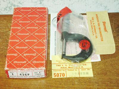 Starrett 0-1 Inch Micrometer No 436p W Box