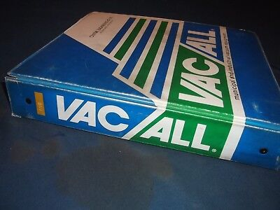 Vac-all E5 E10 Street Cleaner Sweeper Parts Operation Shop Service Repair Manual