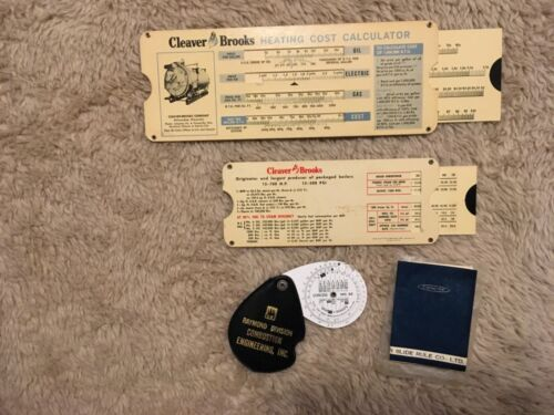 Vintage Engineering Advertising Boiler Steam Cost Slide Charts + Concise no. 32