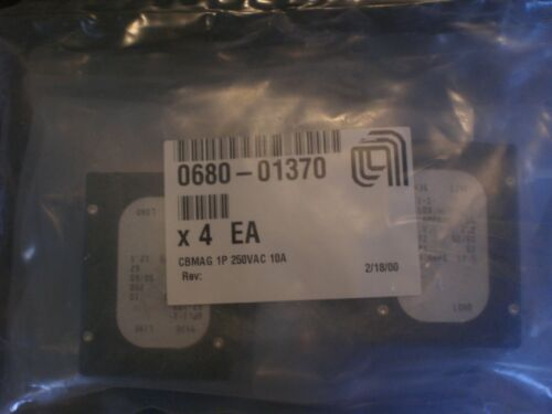 AMAT Applied Materials #0680-01370 CBMAG 1P 250VAC 10A Circuit Breakers  NEW