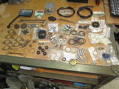 Yamaha Parts Dealer - NOS Yamaha OEM Vintage Antique Wholesale Dealer Parts Lot Cable Mirror Piston