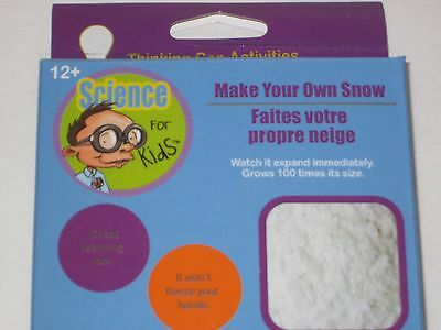 Make Your Own Snow (Make Your Own Snow Magic Trick - Safe Science Learning Experiment for Kids    )